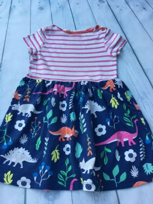 Mini Boden florasaurus hotchpotch dress age 2-3